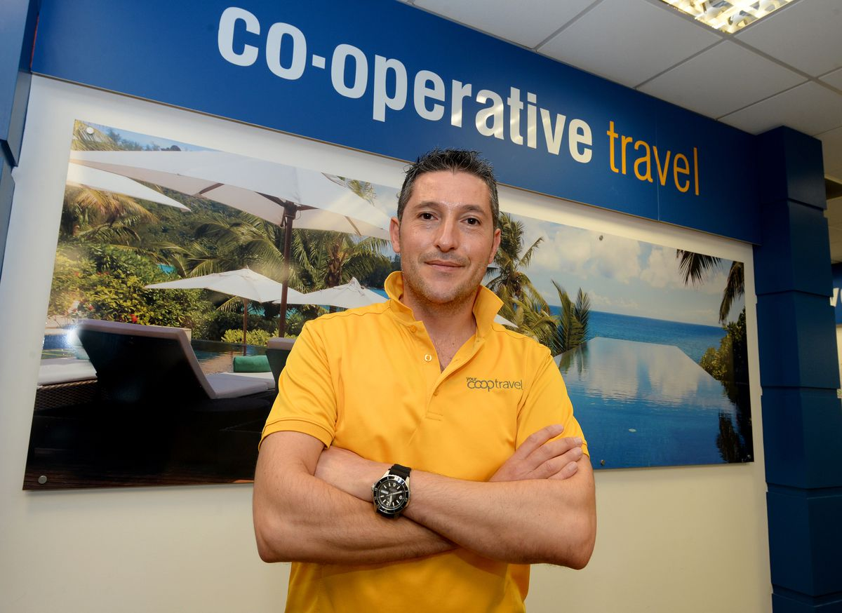 Peter Bruno, travel manager for Your Co-op Travel Walsall and Bloxwich.