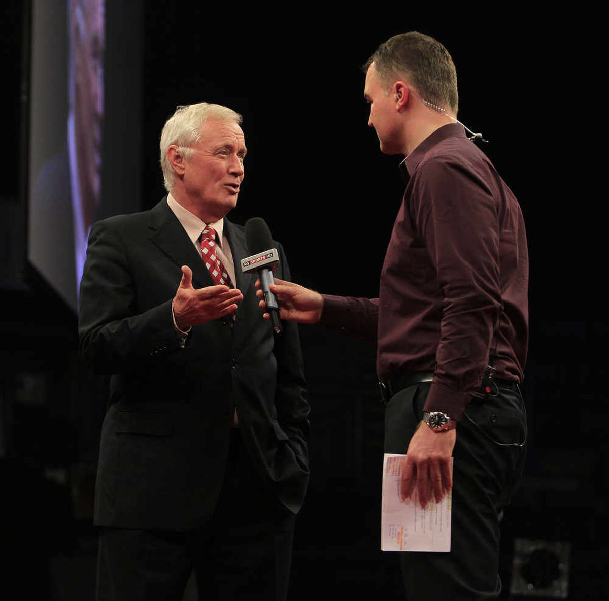 A regular fixture - Barry Hearn has worked with Sky Sports since the company formed in the early 1990s.