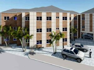 An artist's impression of proposed apartments on the Morris Car and Commercial Vehicle Repairs site. Photo: Orrdee Services.