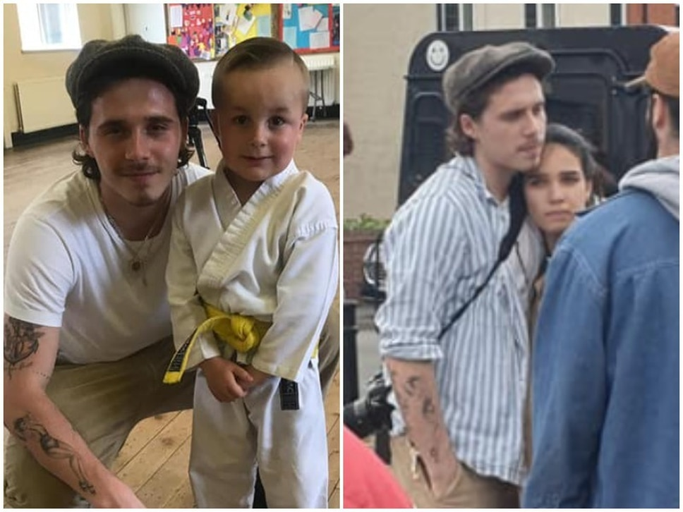 Brooklyn Beckham spotted in Black Country with model girlfriend during music video shoot