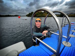 Glyn Marston, from Willenhall, training at Cliff Lake in Kingsbury, north Warwickshire