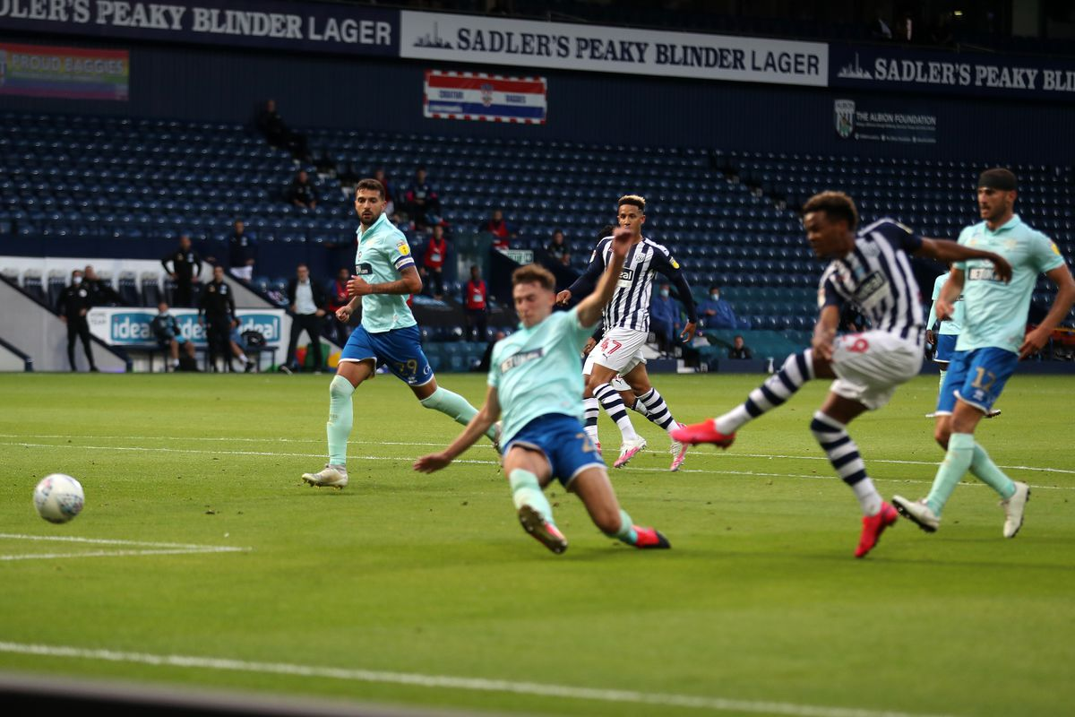Grady Diangana of West Bromwich Albion scores a goal to make it 1-1. (AMA)