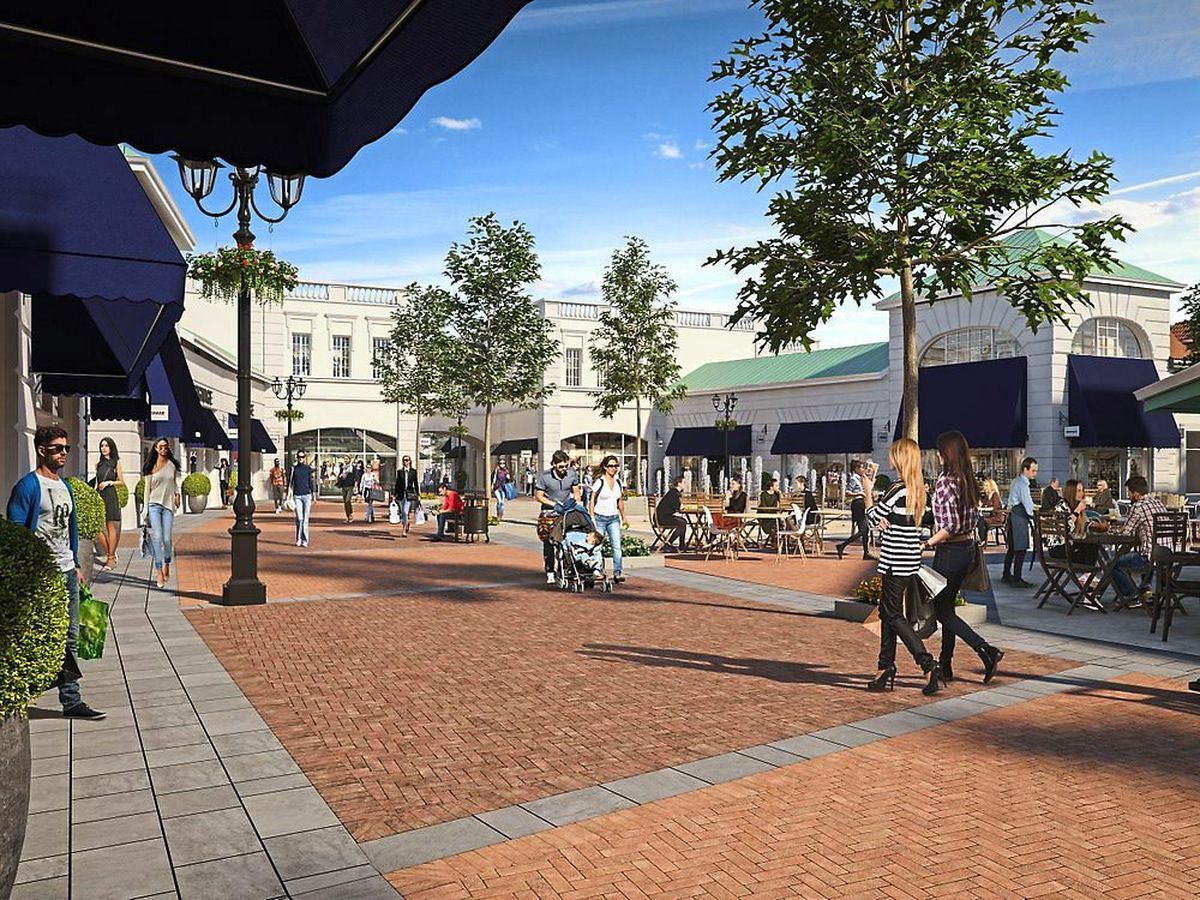 What the designer outlet will look like