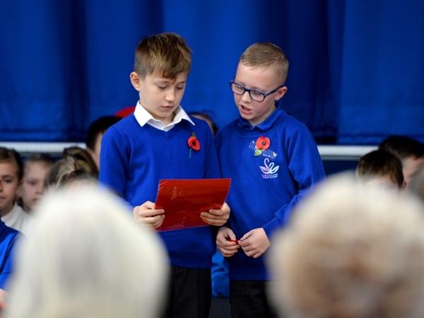 Norton Canes school holds Remembrance service