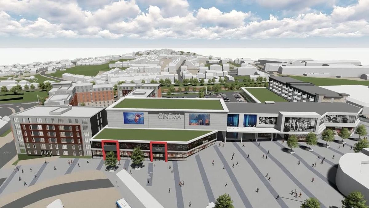 An artist's impression of the Portersfield development, although the plan for the cinema has since been scrapped
