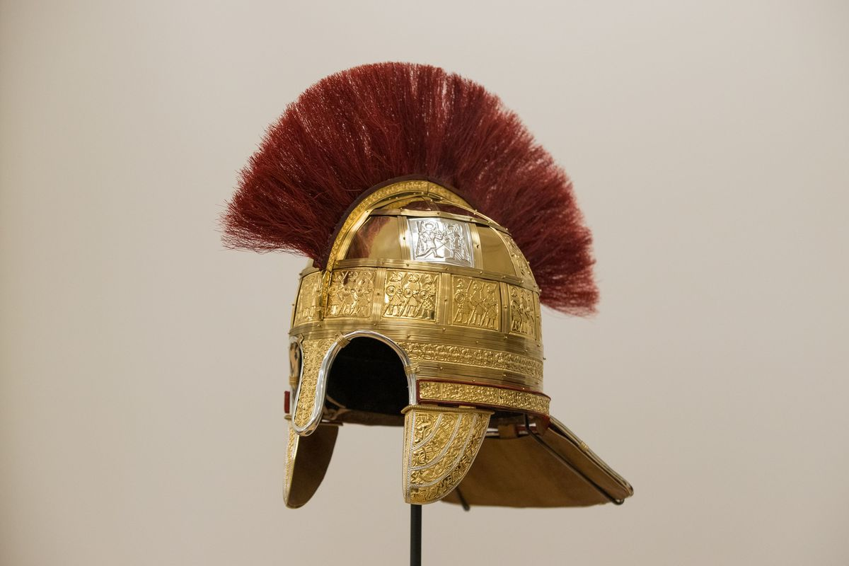 A helmet from the Staffordshire Hoard find