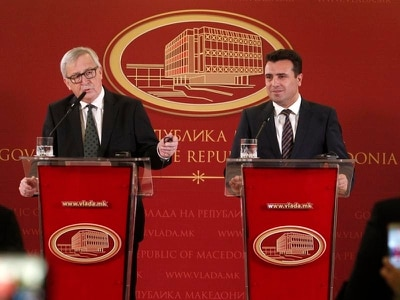 Jean-Claude Juncker urges Macedonia to resolve name dispute