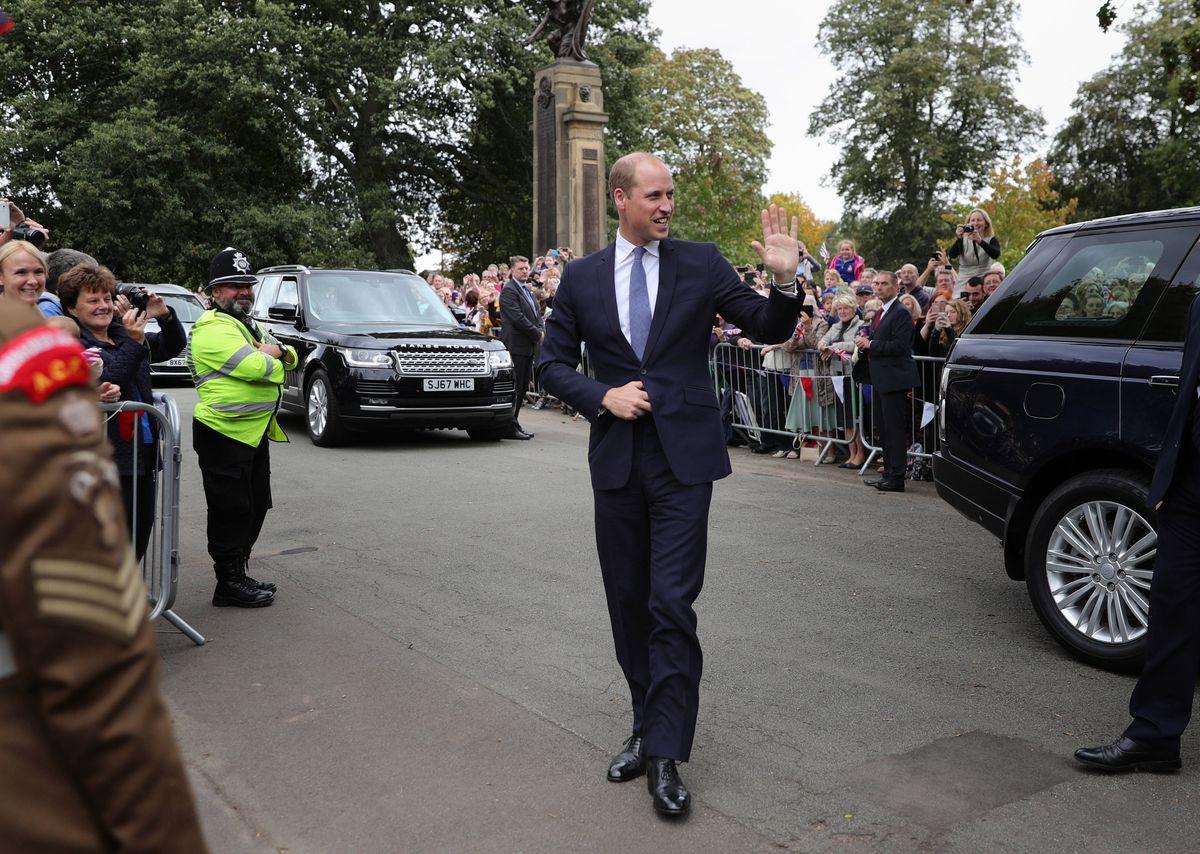Prince William visits Stourbridge