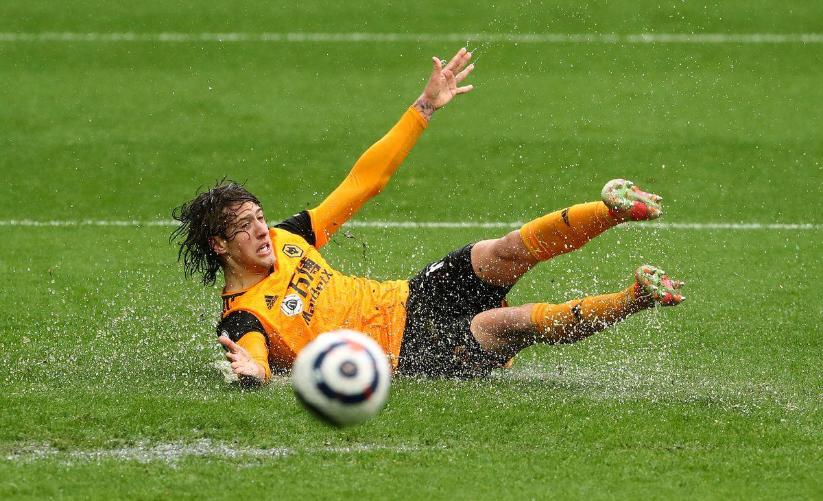 Wolverhampton Wanderers' Fabio Silva goes to ground