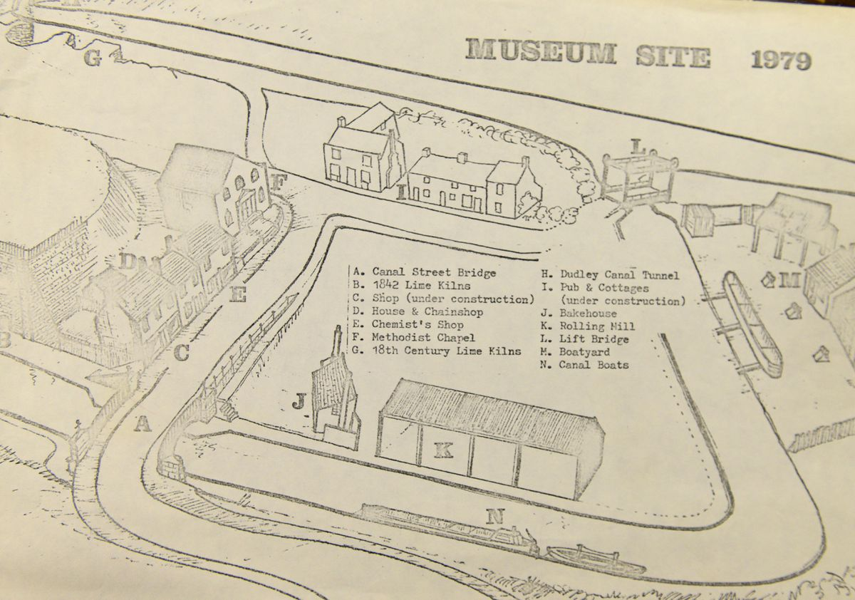 One of the early designs for the village