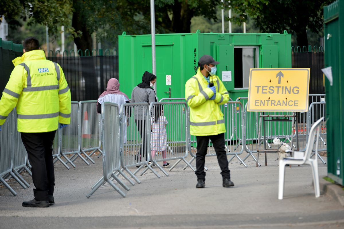 There are no big queues at the Whitmore Reans Health Centre testing site... but getting access for a test is not easy