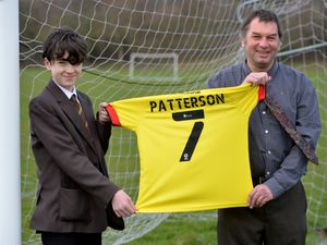 Jack Patterson with teacher Paul Mobberley