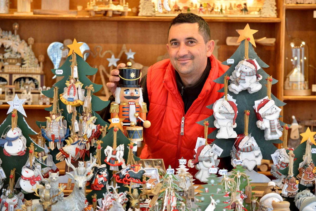 One of the traders Moldovan Ioan who opened his stall for the first time on Thursday