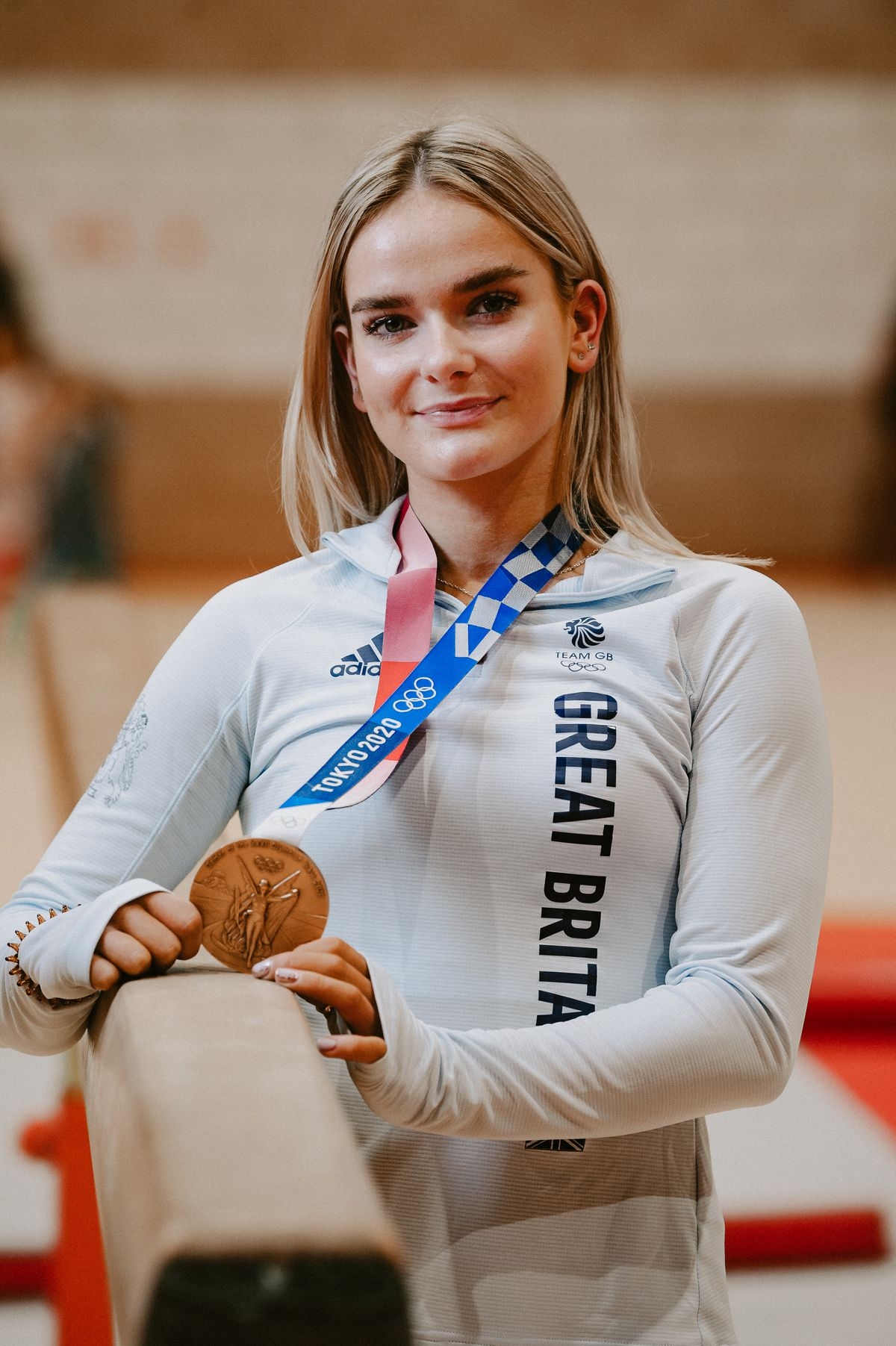 Olympian Alice Kinsella receives a welcome home party at Park Wrekin Gymnastics Club in Wellington, after returning home from Tokyo 2020 Olympics