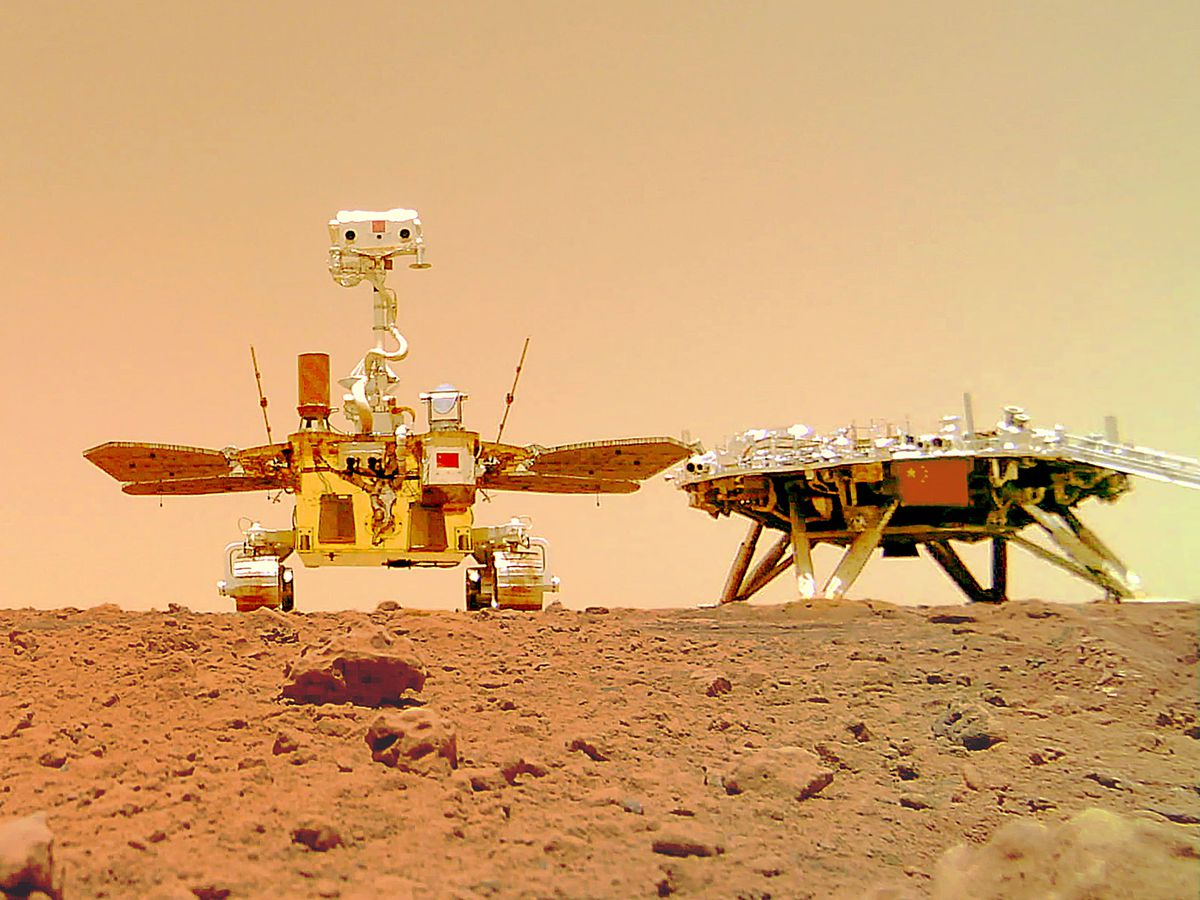 The rover on Mars