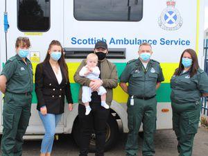 Finlay Mackenzie, family and paramedics