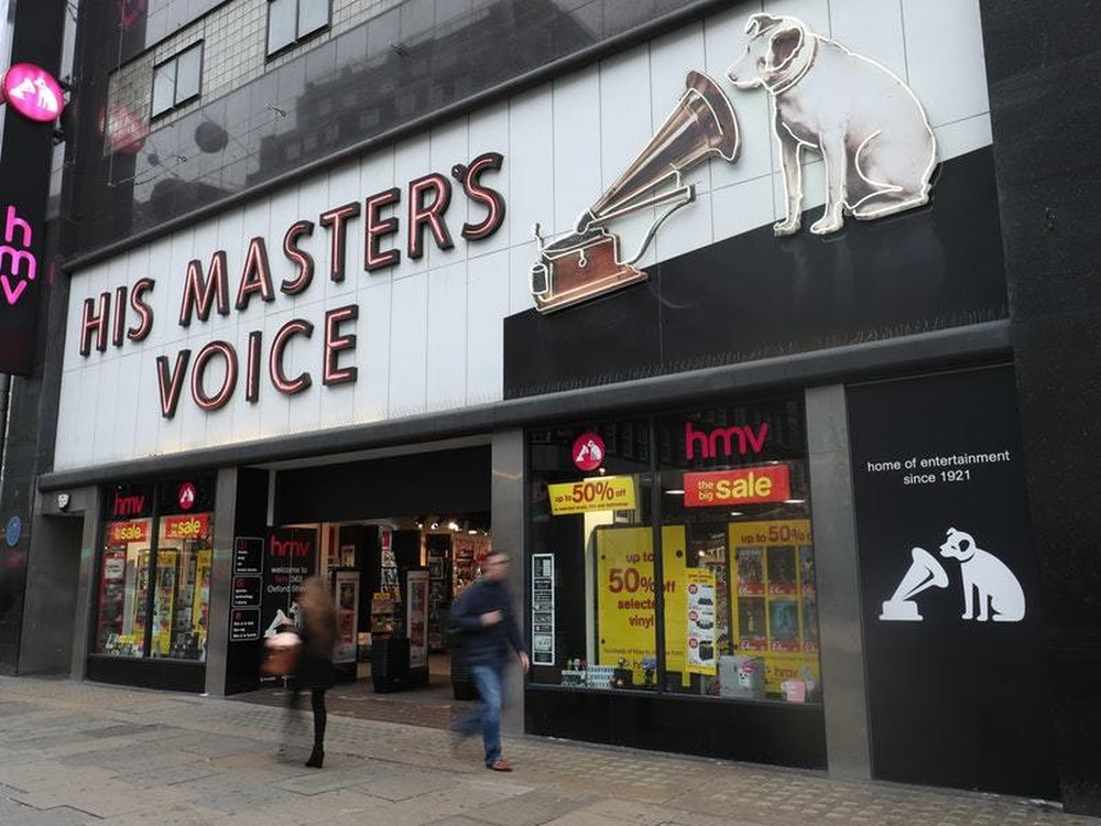 HMV is bought by Canadian retailer Sunrise Records with 1,500 jobs saved