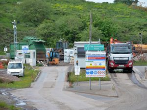 DUDLEY  COPYRIGHT TIM STURGESS EXPRESS AND STAR...... 26/05/2021 GV of Himley Quarry Landfill Site which was cordoned off yesterday after a human bone was discovered. ...