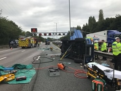 Crash closes three lanes on M6 southbound