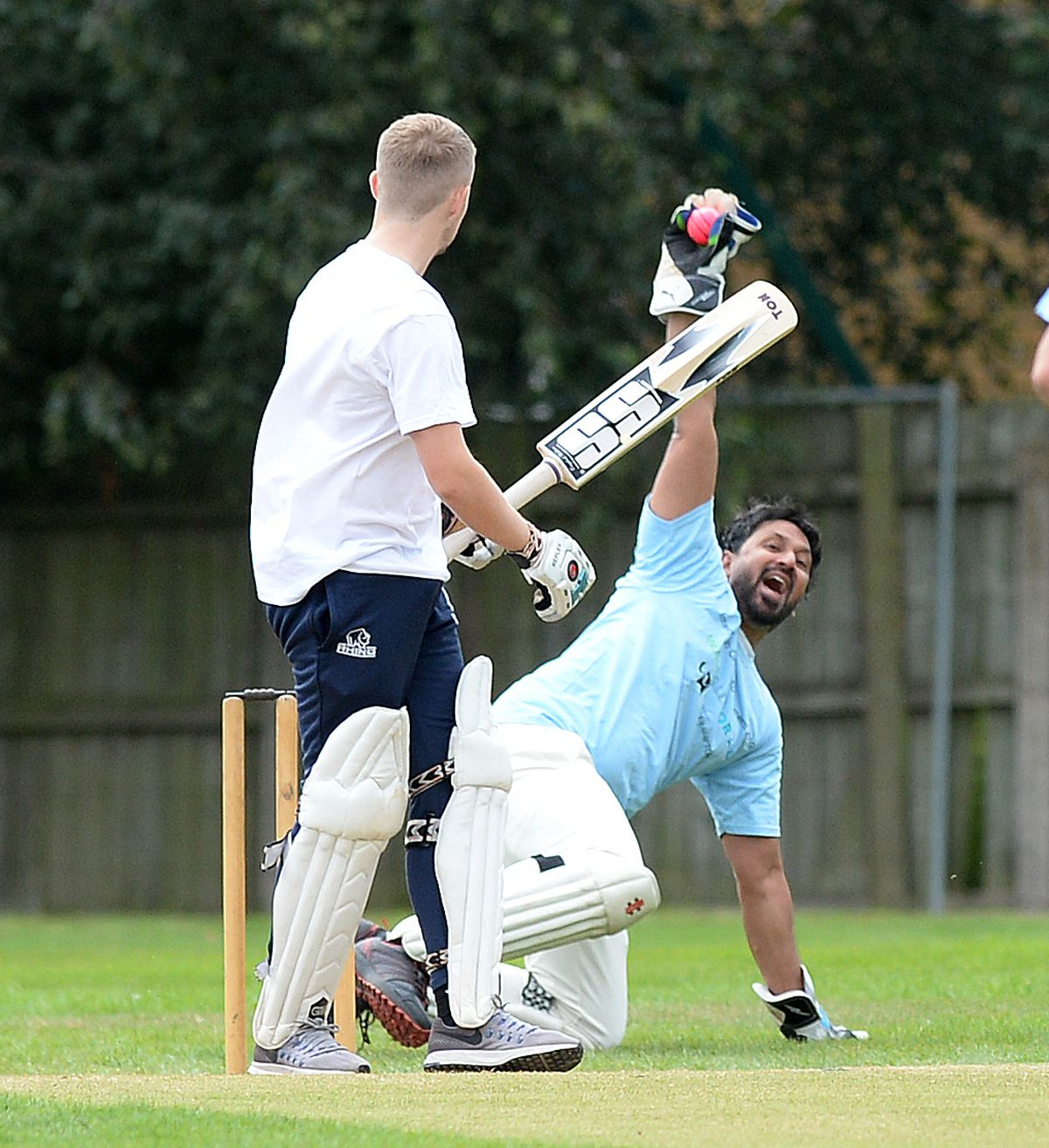 Imran Suddle claims a wicket for Walsall for All