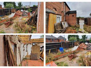 Photos of the derelict former shop in Wolverhampton Road, Oldbury. Photo: Pinnacle Architecture