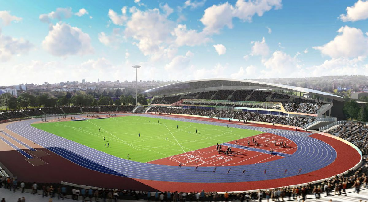 New images of the revamped Alexander Stadium have been released as part of its planning application - image courtesy of Birmingham City Council