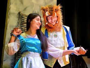 Shaan Bahia, 14, and Josh Molloy, 15, star in Highfield School's production of Beauty and the Beast