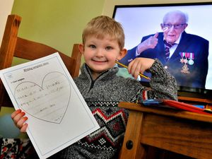 Luca wrote his letter after hearing of the death of Captain Sir Tom Moore, someone his mother Lisa said he admired