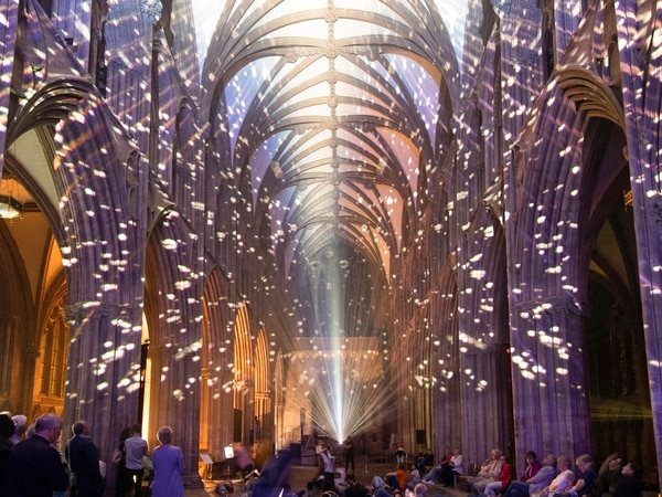 Lichfield Cathedral's light show is out of this world