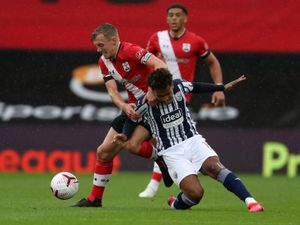 James Ward-Prowse of Southampton Football Club fouls Matheus Pereira of West Bromwich Albion. (AMA)