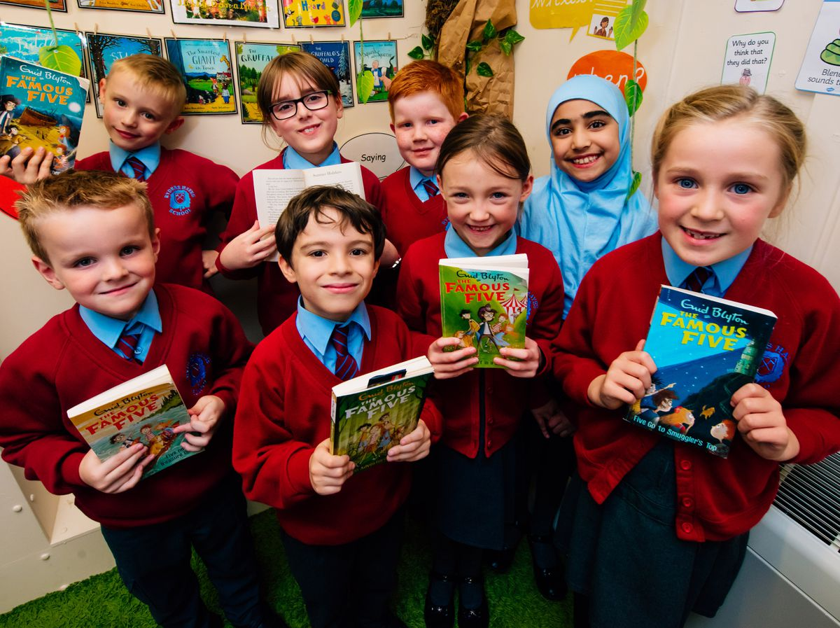 Famous Five fans at Ryders Hayes School in Pelsall