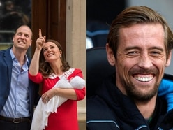 Can you guess the joke Peter Crouch just made about the royal baby's arrival?