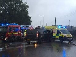 Two taken to hospital after Aldridge crash