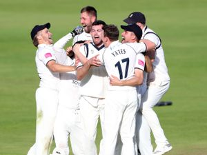 Warwickshire players celebrate