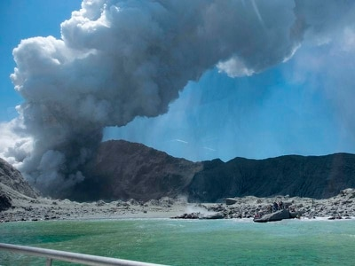 Two Britons in hospital as police open inquiry into volcano tragedy