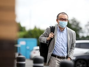 WOLVERHAMPTON, ENGLAND - JULY 05: Jeff Shi, Executive Chairman of Wolverhampton Wanderers arrives at Sir Jack Hayward Training Ground on July 05, 2021 in Wolverhampton, England. (Photo by Jack Thomas - WWFC/Wolves via Getty Images).