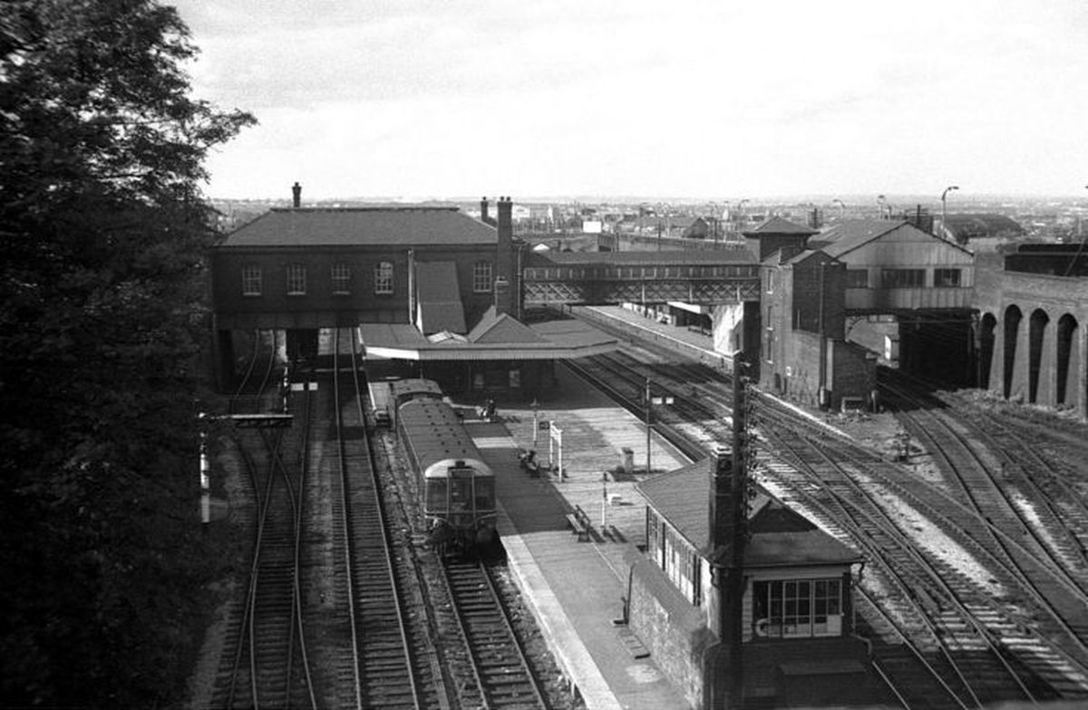 Dudley railway station pictured in 1962. Tim Weller is calling for it to be reopened.