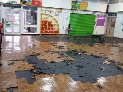 Some pupils still not back at primary school two weeks after flood