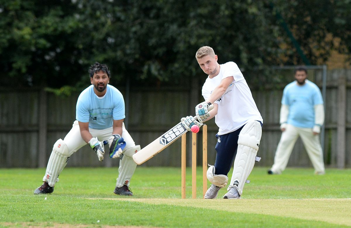 Louis Clifton hits a driving shot for WLV Sport