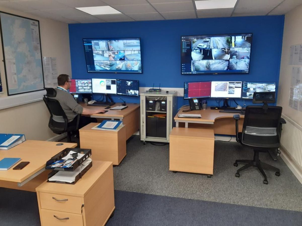 The new security control room at Tipton