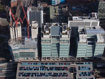 New aerial images show extent of £200m Three Snowhill development in Birmingham