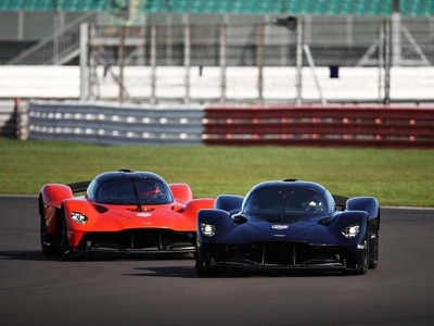 F1 drivers take Aston Martin Valkyrie hypercar for hot laps of Silverstone