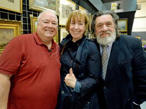 Marion Brennan out reporting, meeting Brookside stars Michael Starke and Ricky Tomlinson