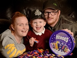 Young Joey-James brings Christmas cheer with chocolates for 999 crews