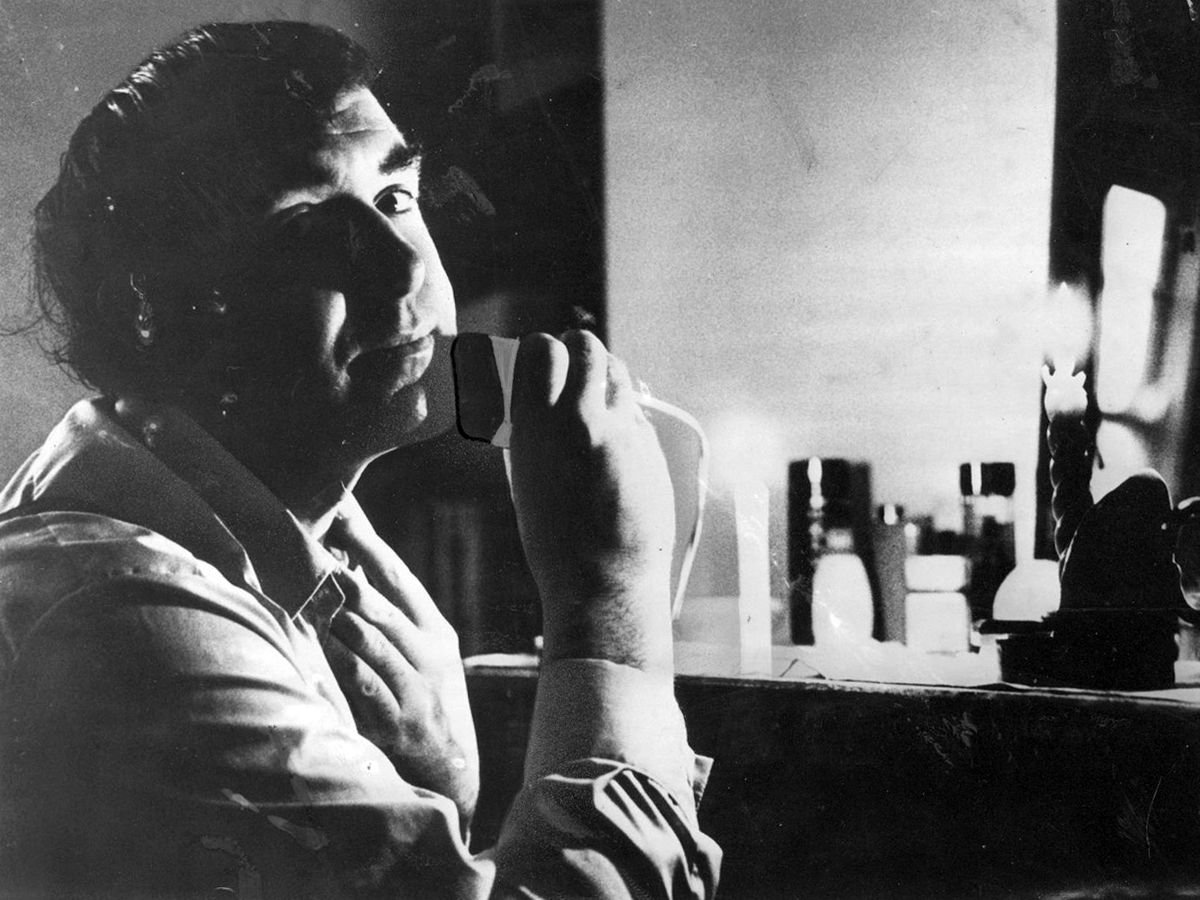 Energy Minister Patrick Jenkin shaving by candlelight during the 1973-4 fuel crisis.