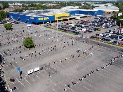 WATCH: Huge queue as Ikea reopens near M6 as lockdown eased
