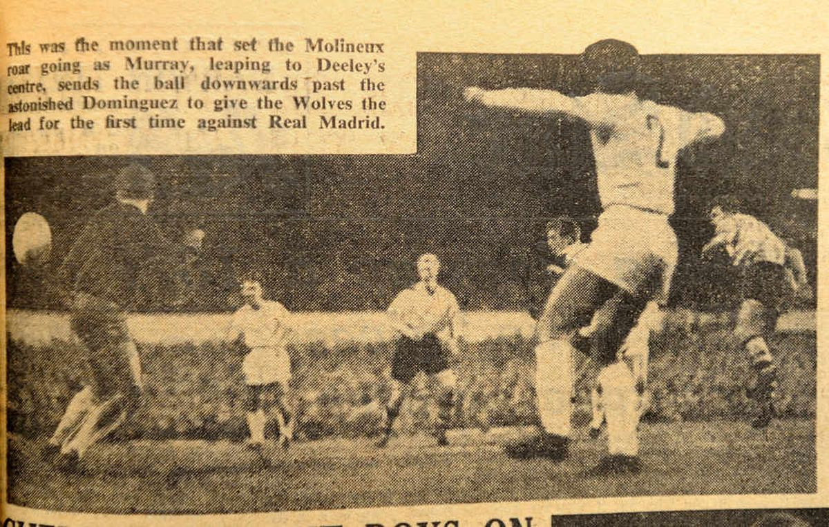 How the Express & Star described Jimmy Murray's goal which put Wolves 2-1 up