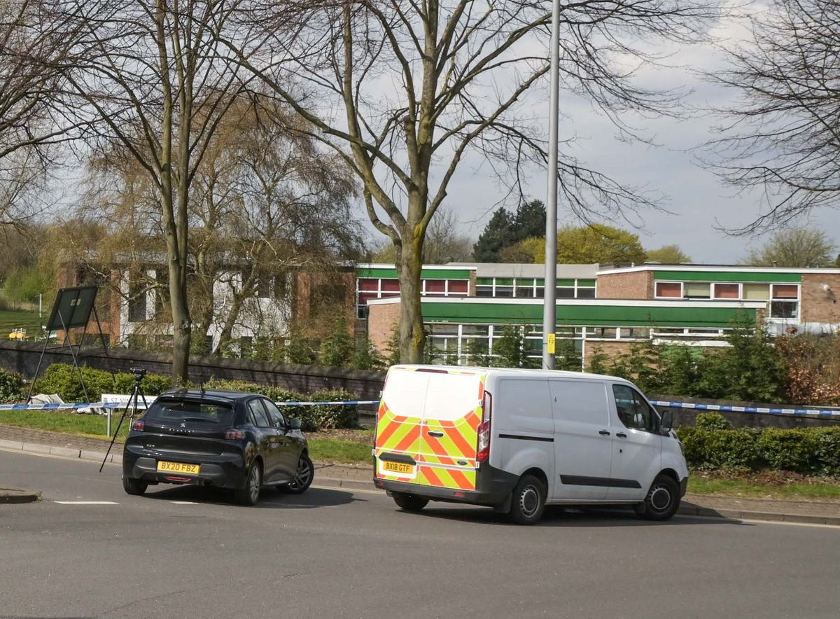 The police cordon next to Nelson Primary School. Photo: SnapperSK