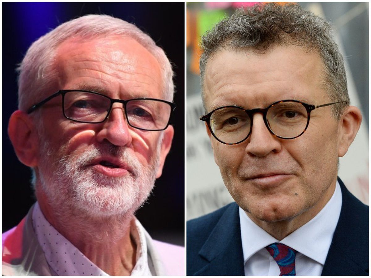 Tom Watson, right, is at odds with Jeremy Corbyn over Brexit