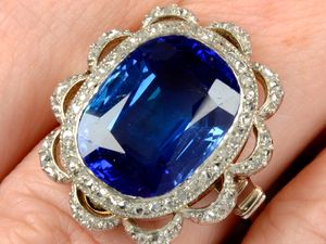The sapphire ring was sold off